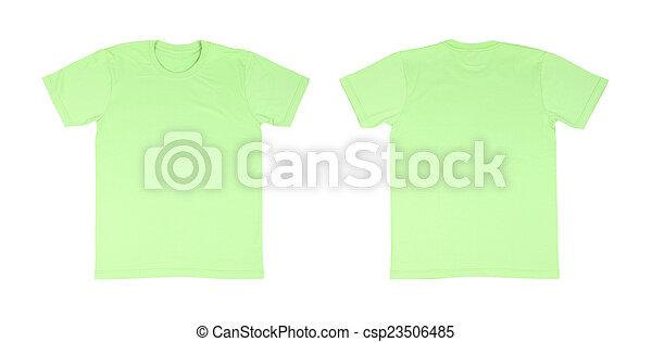 t shirt template setfront back csp23506485