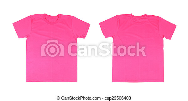T-shirt template set(front, back) on white background stock ...
