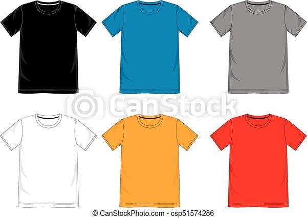 T Shirt Design Line Art : T shirt template.eps. design vector template for men