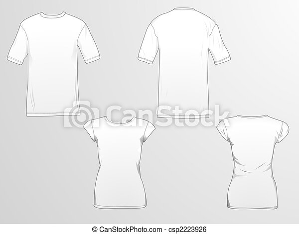 T-shirt templates. T-shirt template/mockup for designs in vector ...