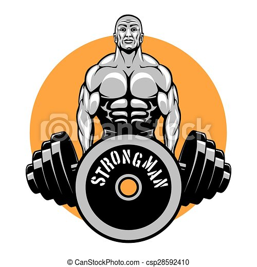 t shirt vector design for bodybuilders and fitness club vector rh canstockphoto com bodybuilding logo tank bodybuilding logs on pegmgf