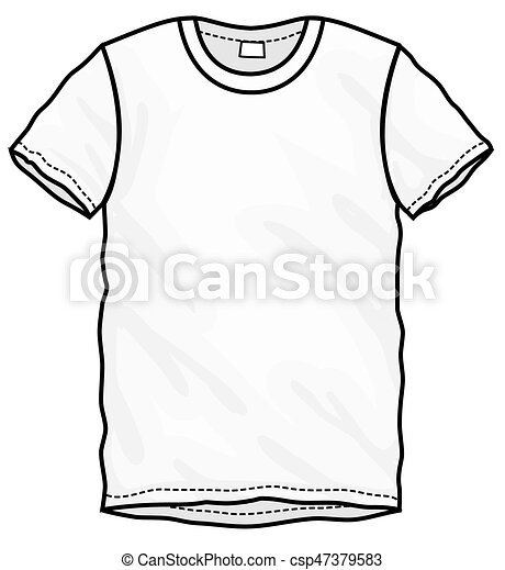 T-shirt, weißes, design, schablone. Vektor, t-shirt, sleeved ...