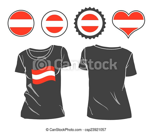 t-shirt with the flag of Austria - csp23921057