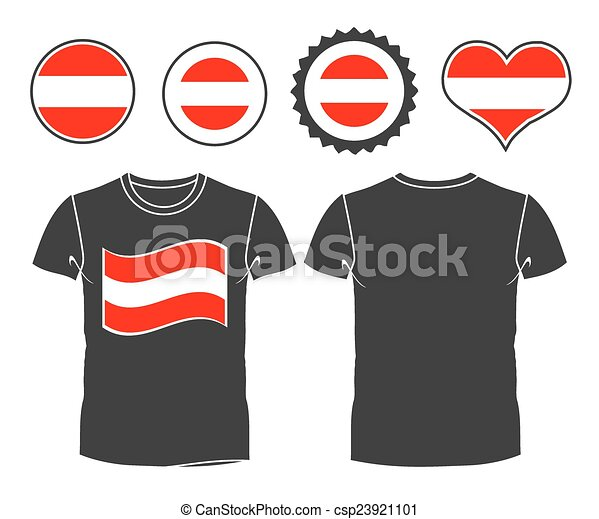 t-shirt with the flag of Austria - csp23921101