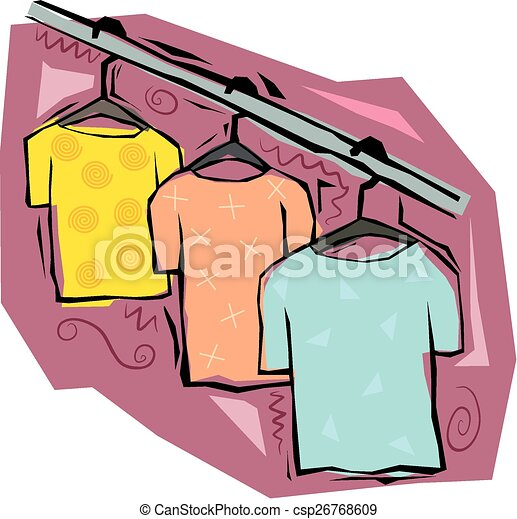 T shirts on hangers. S...T Shirt Clip Art On Clothesline