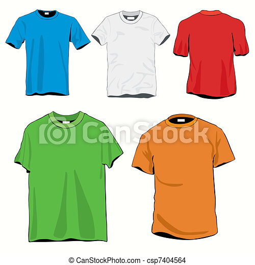T-shirts Templates Set - csp7404564