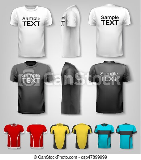 T-shirts with sample text space. Vector. - csp47899999