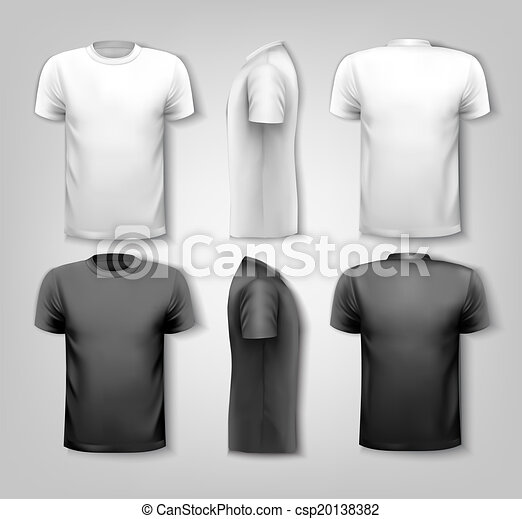T-shirts with sample text space. Vector. - csp20138382