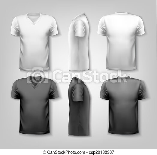 T-shirts with sample text space. Vector. - csp20138387