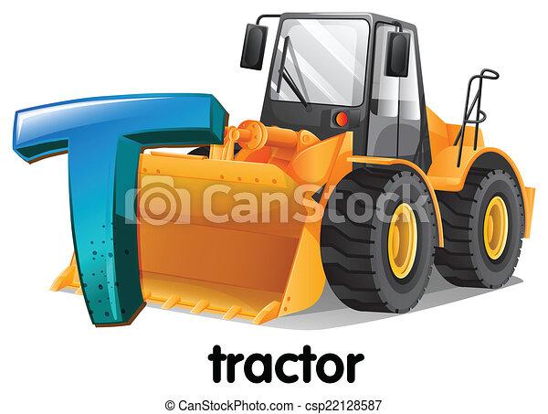 t, trator, letra - csp22128587