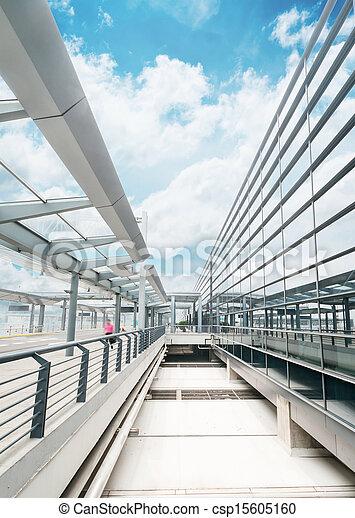 La escena del edificio del aeropuerto T3 en China. - csp15605160