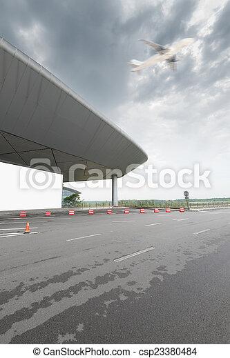 La escena del aeropuerto T3 en Beijing China. - csp23380484