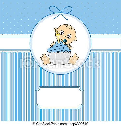 taart, jongen, jarig, baby - csp8390640