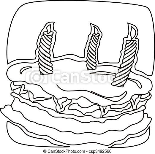 taart voor 66 kleurplatenl