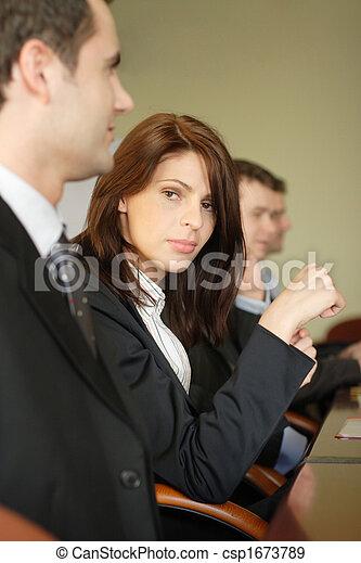 tabela conferência, grupo, pessoas negócio - csp1673789