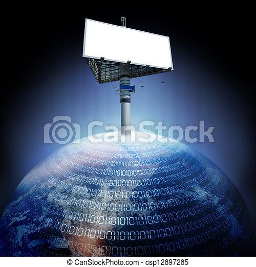 tabellone, terra, digitale - csp12897285