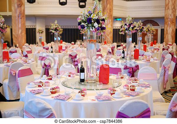 Mesa de bodas - csp7844386