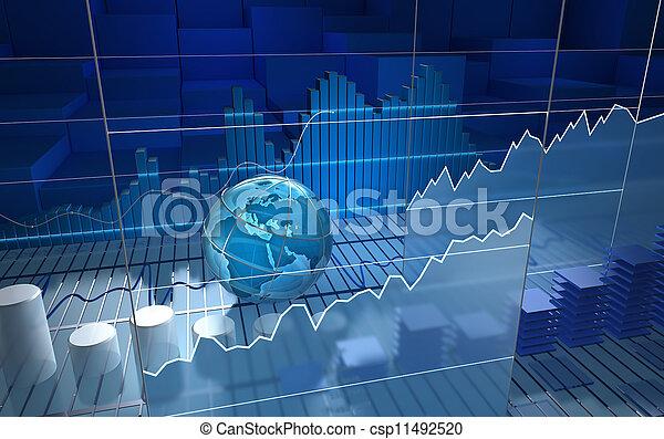La junta de bolsa, abstracta - csp11492520
