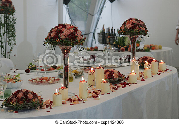 tabla, cabeza, recepción, boda - csp1424066