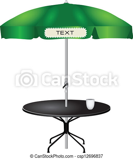 Mesa de café al aire libre - csp12696837