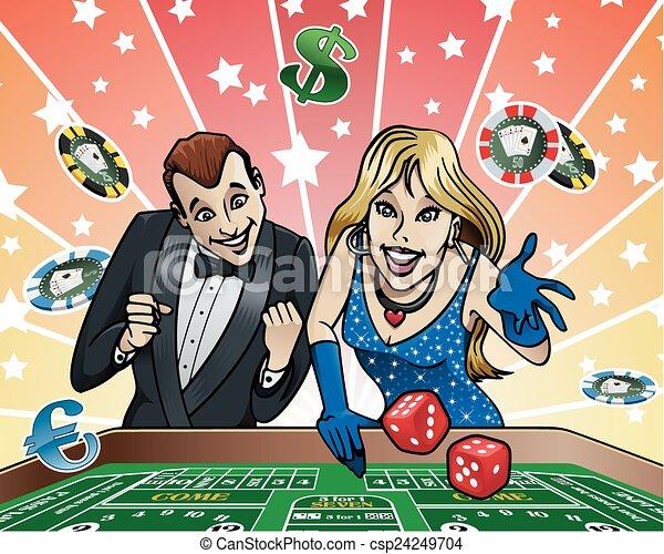Mesa de dados en el casino - csp24249704