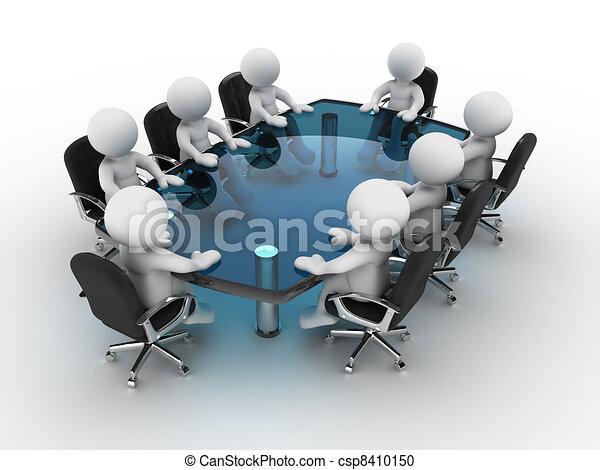 La mesa de conferencias - csp8410150