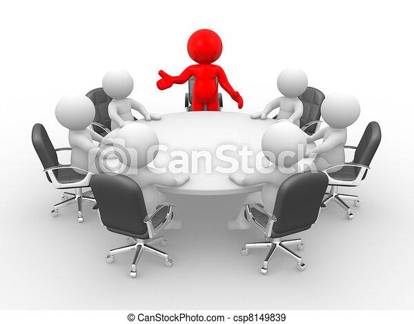 La mesa de conferencias - csp8149839