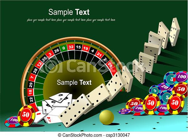 Mesa de ruta y elementos del casino - csp3130047