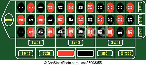 Marcando la ruleta de la mesa - csp38098355