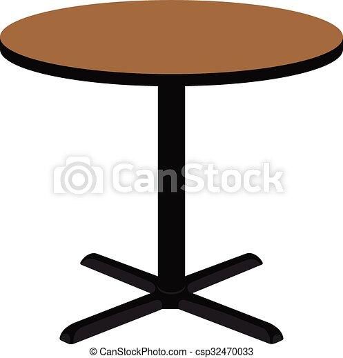 Mesa redonda de madera - csp32470033