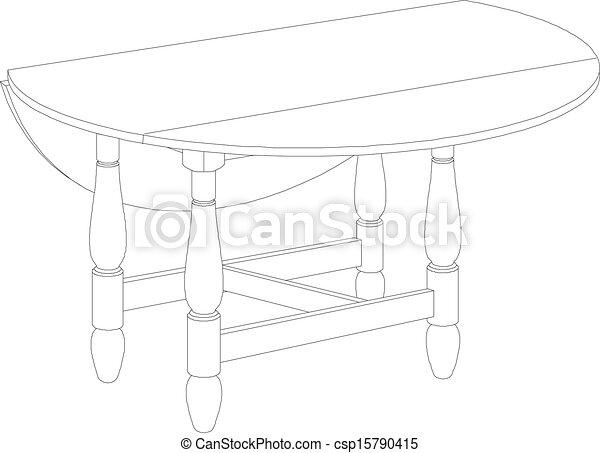 Dibujo de mesa - csp15790415