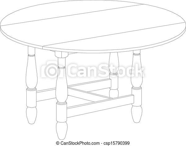 Dibujo de mesa - csp15790399