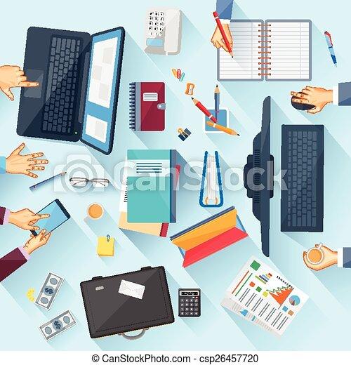 tabla, ejecutivo, oficina de trabajo - csp26457720
