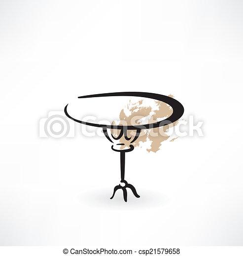 Mesa redonda icono grunge - csp21579658