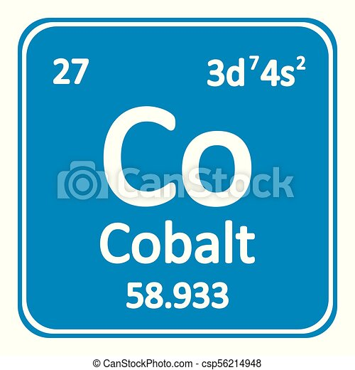 Tabla icon peridico elemento cobalto vector illustration tabla icon peridico elemento cobalto csp56214948 urtaz Images