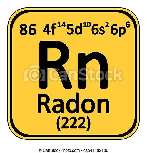 tabla icon peridico elemento radn csp41182186
