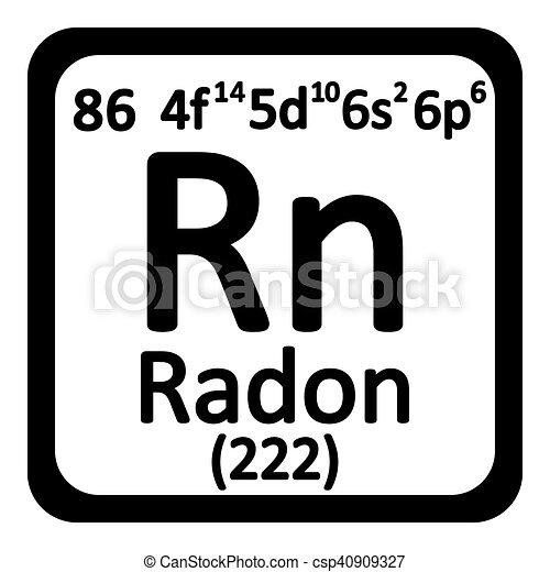 Tabla icon peridico elemento radn vector illustration tabla icon peridico elemento radn csp40909327 urtaz Images