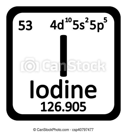 Tabla icon peridico yodo elemento vector yodo illustration tabla icon peridico yodo elemento csp40797477 urtaz Choice Image