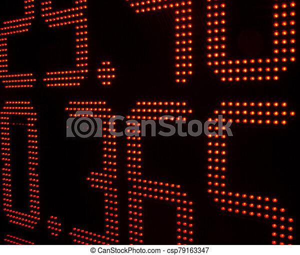 tabla, intercambio, moneda, tasas - csp79163347