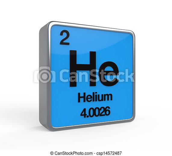 Tabla peridico helio elemento render aislado ilustracin tabla peridico helio elemento csp14572487 urtaz Choice Image