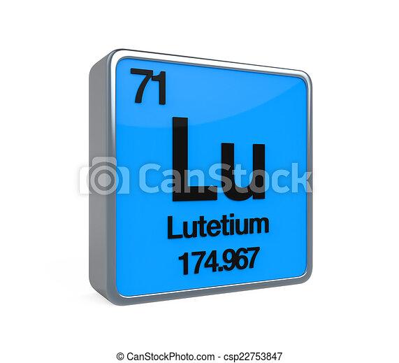 Tabla peridico lutetium elemento render lutetium aislado tabla peridico lutetium elemento csp22753847 urtaz Images