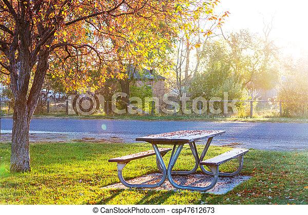 Mesa de picnic - csp47612673