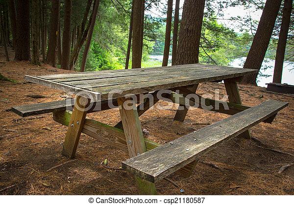 Mesa de picnic - csp21180587