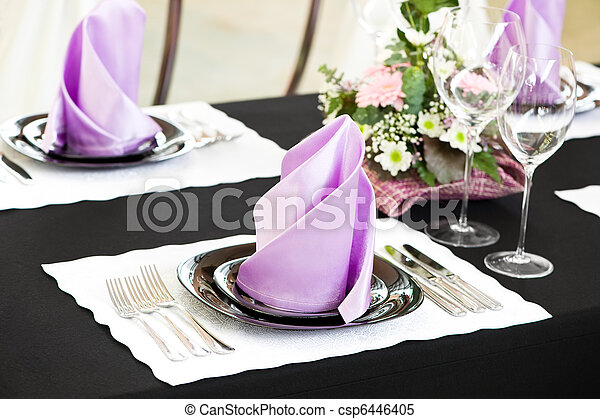 Una mesa de catering - csp6446405