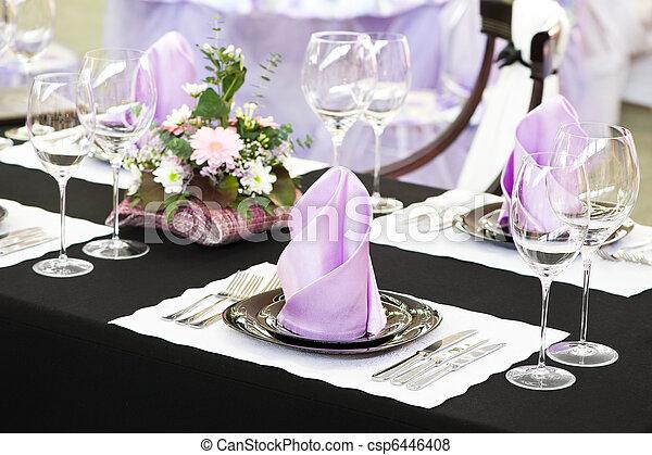 Una mesa de catering - csp6446408