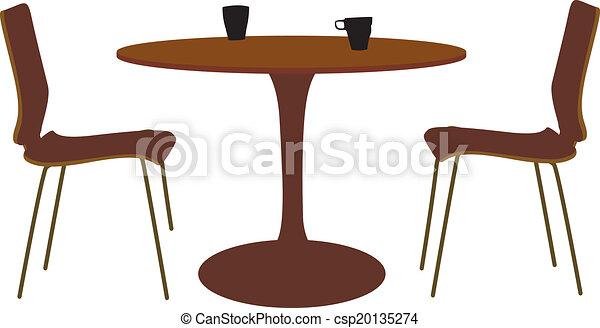 Mesa y silla - csp20135274