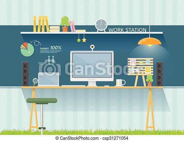 Mesa de trabajo - csp31271054