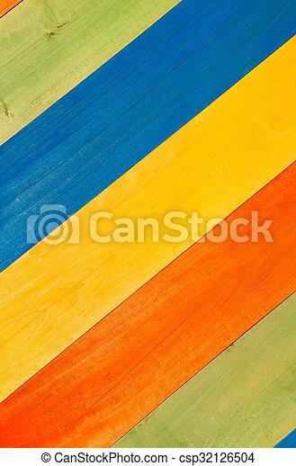 Planchas de madera multicolores en diagonal para el fondo - csp32126504