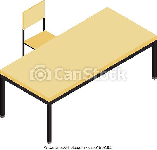 vector illustration isometric perspective 3d office table vector rh canstockphoto com furniture clip art free furniture clipart 1/4 scale