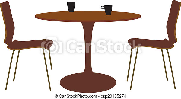 Table and chair set vectors illustration - Search Clipart, Drawings ...